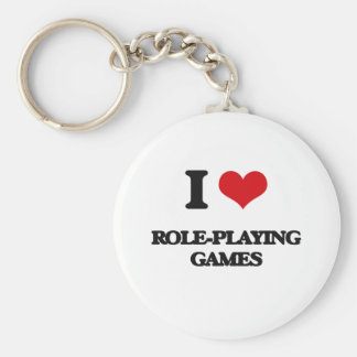 I Love Role-Playing Games Keychains