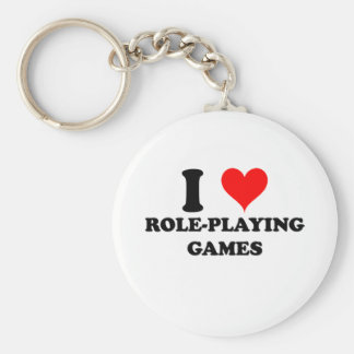 I Love Role-Playing Games Keychain