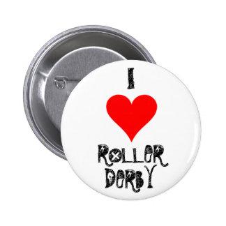 I LOVE ROLLER DERBY BUTTON