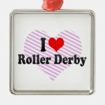 I love Roller Derby Christmas Tree Ornament