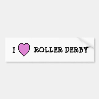 I Love Roller Derby Sticker Bumper Stickers