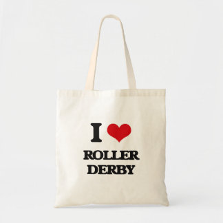 I Love Roller Derby Tote Bag