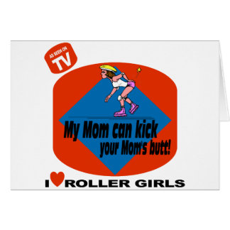 I Love Roller Girls Card