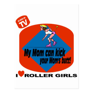 I Love Roller Girls Postcard
