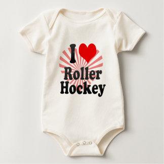 I love Roller Hockey Baby Bodysuit