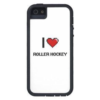 I Love Roller Hockey Digital Retro Design iPhone 5 Covers