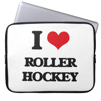 I Love Roller Hockey Laptop Computer Sleeve