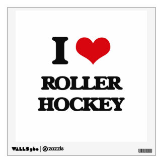I Love Roller Hockey Room Decal