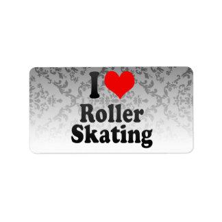 I love Roller Skating Address Label