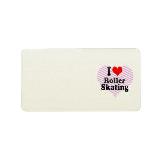 I love Roller Skating Custom Address Label