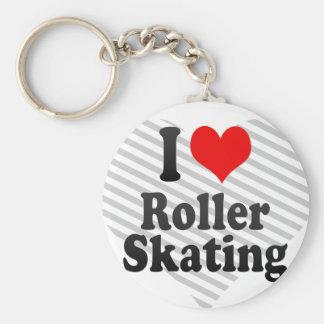 I love Roller Skating Keychain