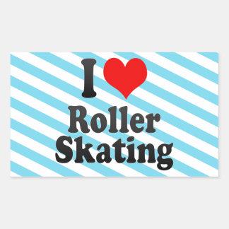 I love Roller Skating Rectangular Sticker