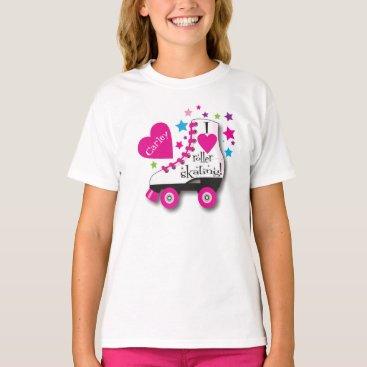 Valentines Themed I Love Roller Skating T-Shirt