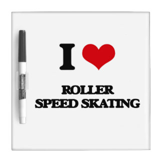 I Love Roller Speed Skating Dry-Erase Whiteboards