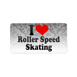 I love Roller Speed Skating Personalized Address Labels