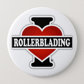 I Love Rollerblading Button