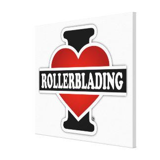 I Love Rollerblading Canvas Print