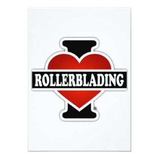 I Love Rollerblading Card