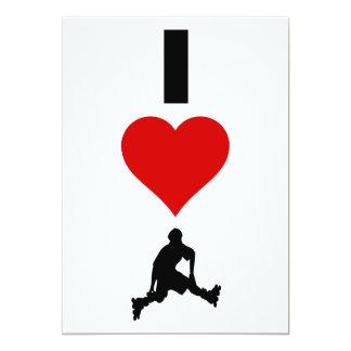 I Love Rollerblading (Vertical) Card