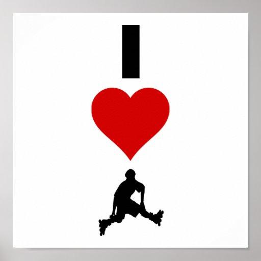 I Love Rollerblading (Vertical) Poster