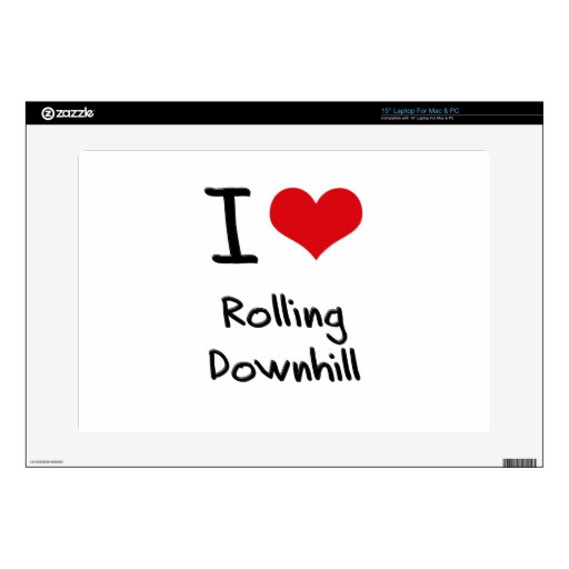 I Love Rolling Downhill Skin For Laptop