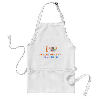 I Love Rolling Meadows, IL Adult Apron