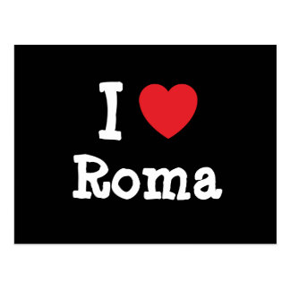 I love Roma heart T-Shirt Postcards