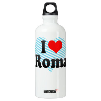 I Love Roma, Italy Water Bottle