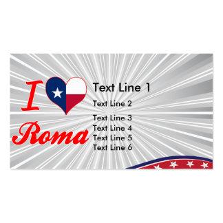 I Love Roma, Texas Business Card Template