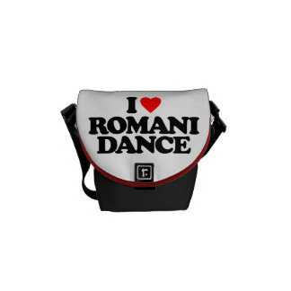 I LOVE ROMANI DANCE COURIER BAGS