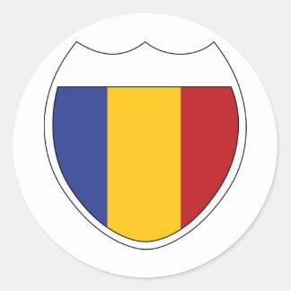 I Love Romania Classic Round Sticker