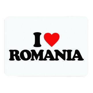 I LOVE ROMANIA 5X7 PAPER INVITATION CARD
