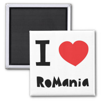 I love Romania Refrigerator Magnet