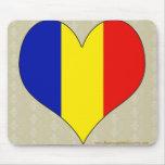 I Love Romania Mouse Pads