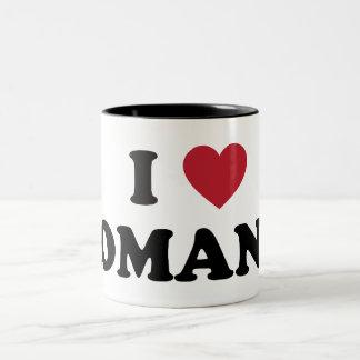 I Love Romania Two-Tone Coffee Mug