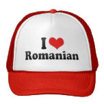 I Love Romanian Mesh Hat