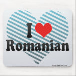I Love Romanian Mouse Pads