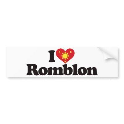 I Love Romblon Bumper Stickers