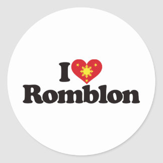 I Love Romblon Classic Round Sticker