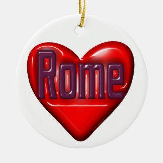 I Love Rome Ceramic Ornament