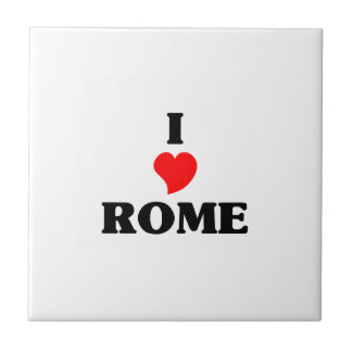 I love Rome Ga Small Square Tile