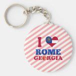 I Love Rome, Georgia Keychains