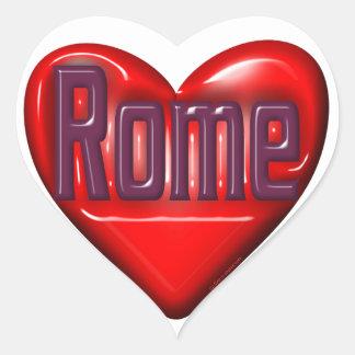 I Love Rome Heart Sticker