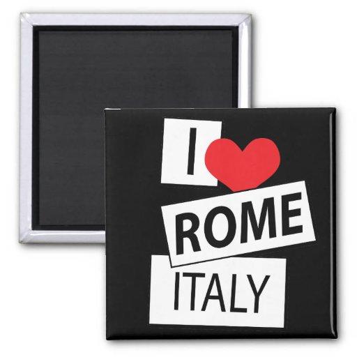 I Love Rome Italy Fridge Magnets