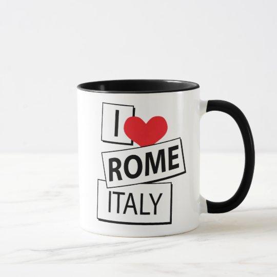 I Love Rome Italy Mug