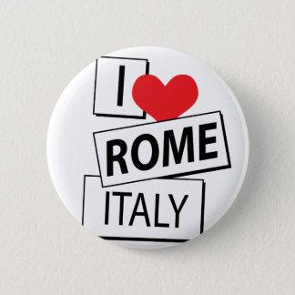 I Love Rome Italy Pinback Button
