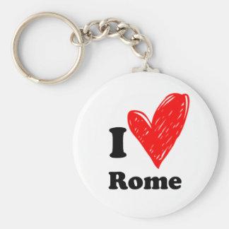 I Love Rome Keychain