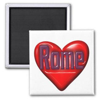 I Love Rome 2 Inch Square Magnet