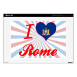 I Love Rome, New York Decals For Laptops