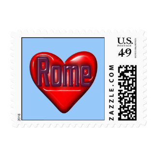 I Love Rome Postage Stamp